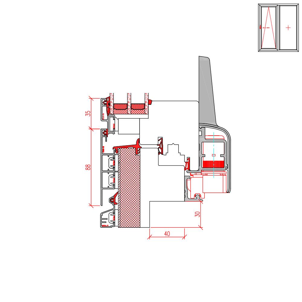 ECO Plano PSK - Fräsung für Altbau 30 mm