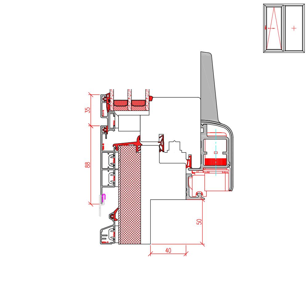 ECO Plano PSK - Fräsung für Altbau 50 mm