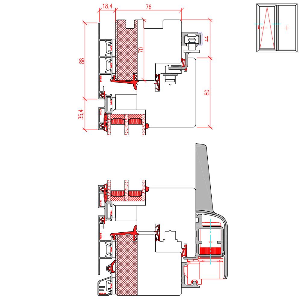 ECO Plano PSK - Detail Höhenschnitt