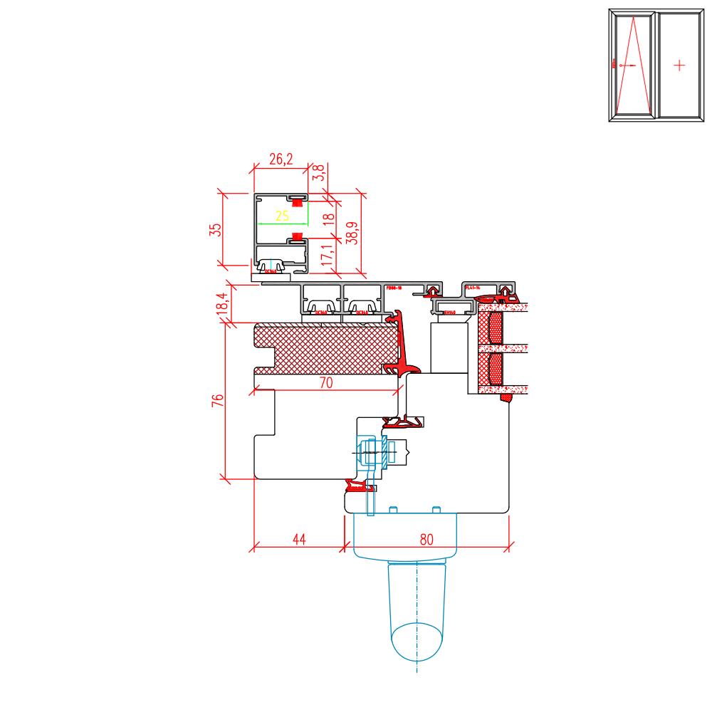 ECO Plano PSK - Rollladenführungsschiene Altbau