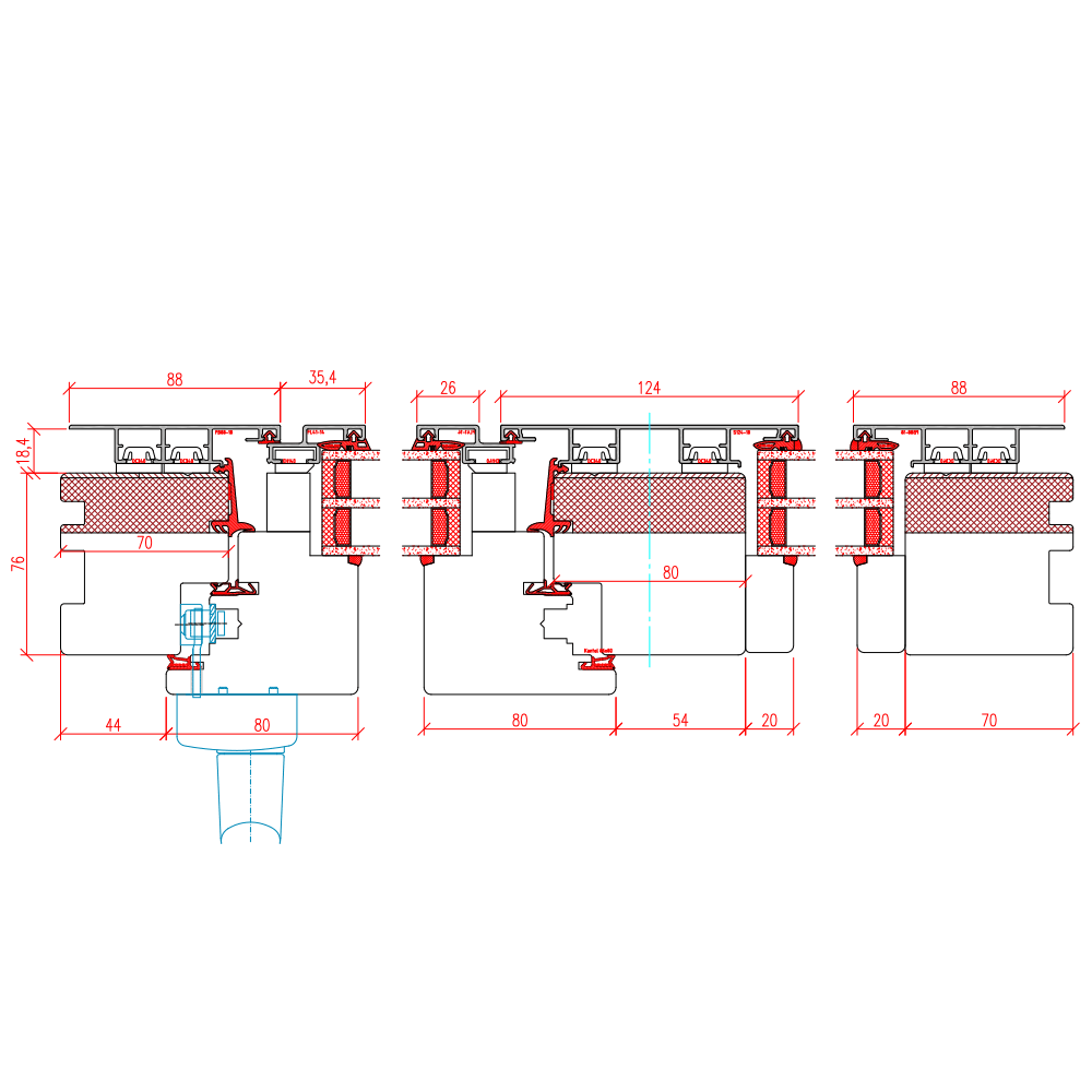 ECO Plano PSK - Detail Vertikalschnitt