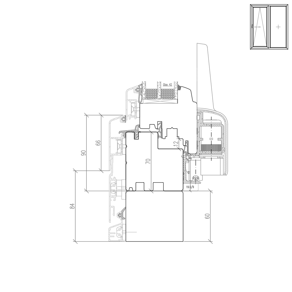 Idealu Classicline PSK  - Rahmenverbreiterung mit Alu Vorsatzschale