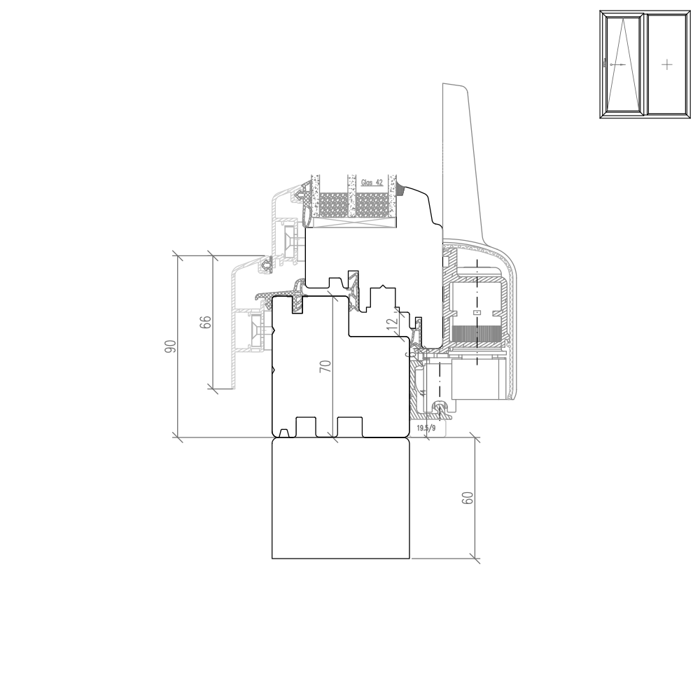 Idealu Classicline PSK  - Rahmenverbreiterung ohne Alu Vorsatzschale