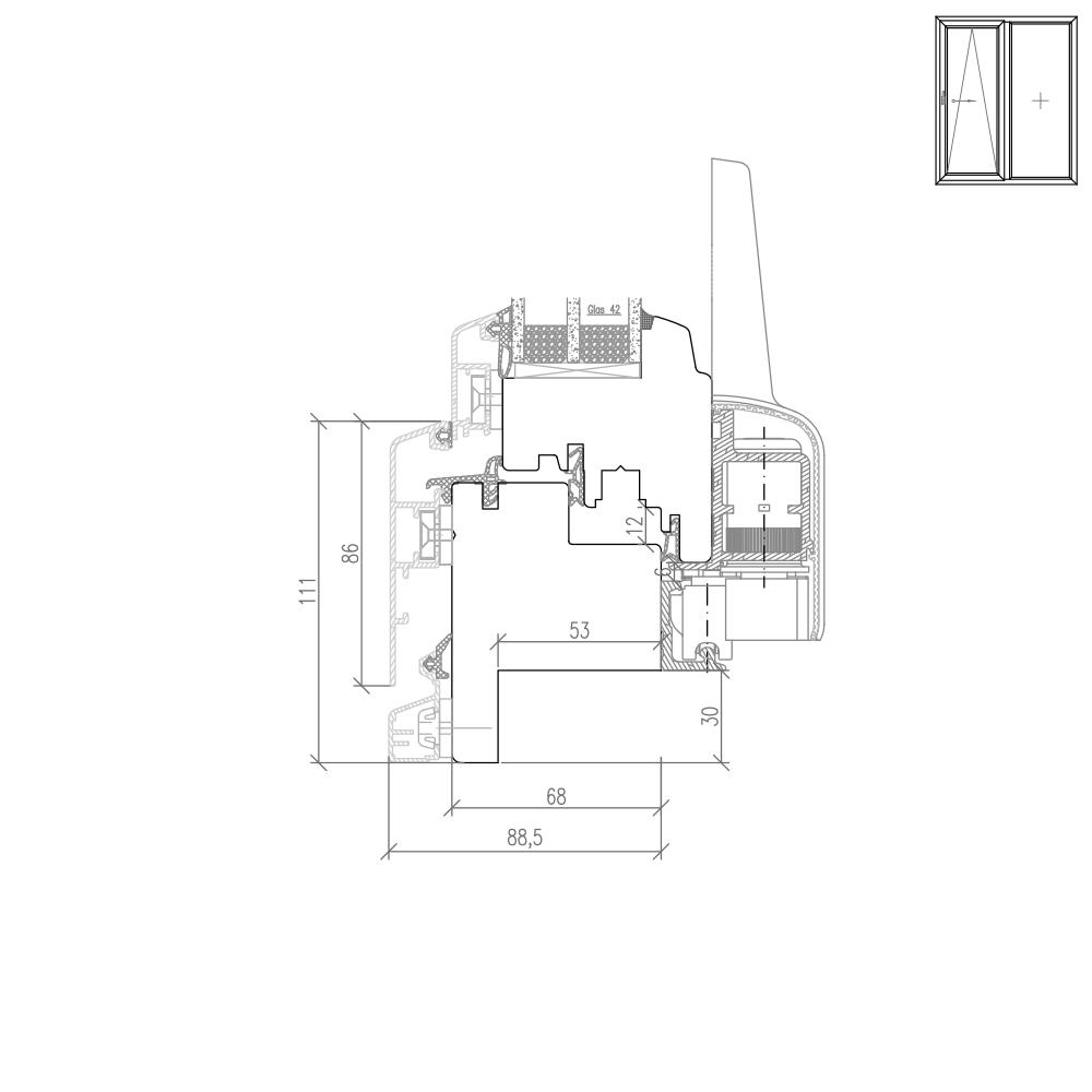 Idealu Classicline PSK Fräsung für Altbau - 30mm