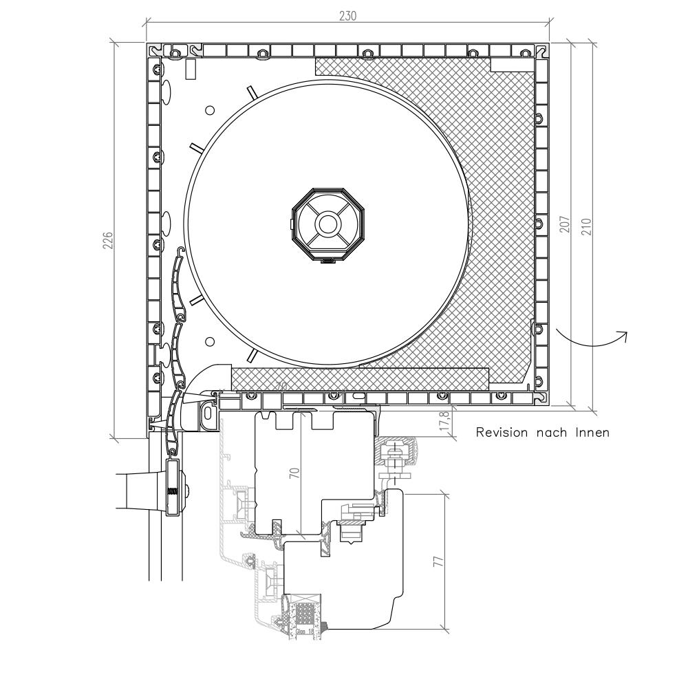 Idealu Classicline PSK mit Aufsatzrollladen Top Mini 210