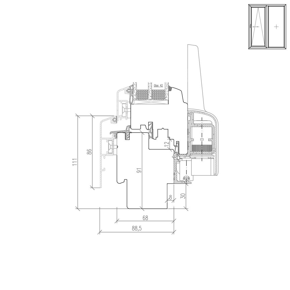 Idealu Classicline PSK Neubaufräsung