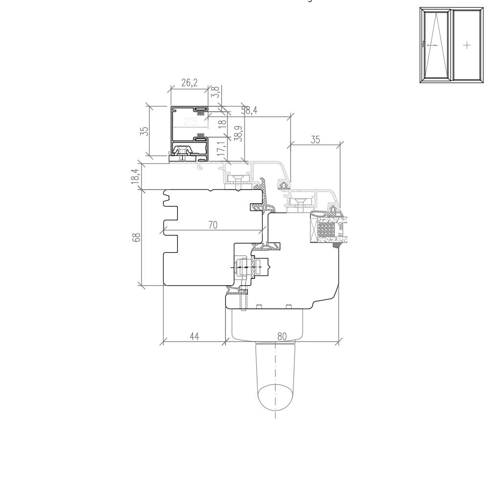 Idealu Classicline PSK Rollladenführungsschiene Altbau