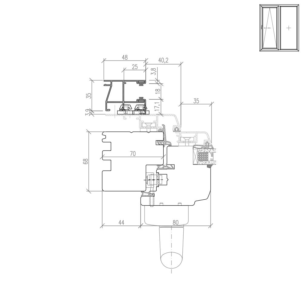 Idealu Classicline PSK Rollladenführungsschiene Neubau