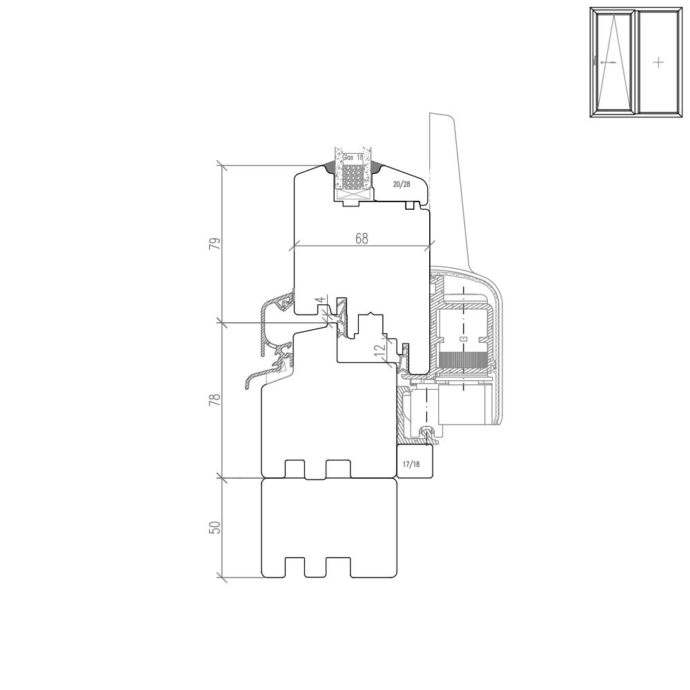 IV 68 Holz PSK Beispiel Rahmenverbreiterung