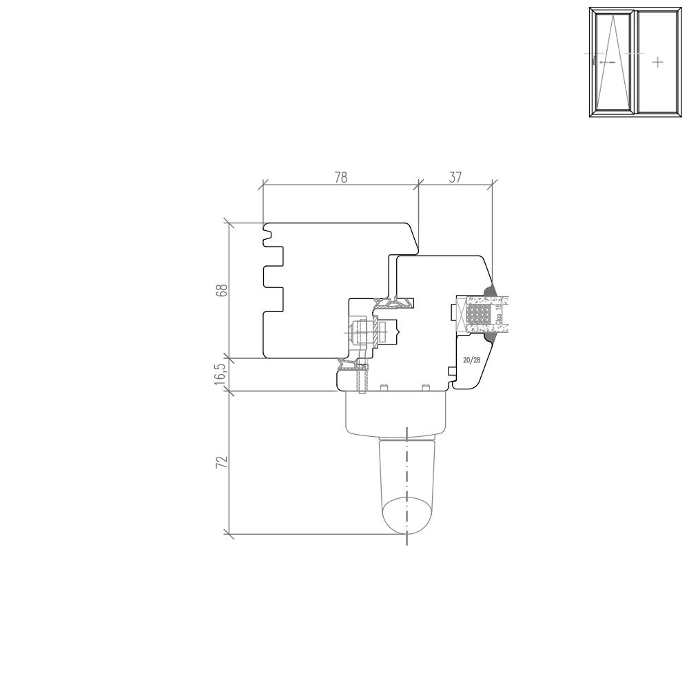 IV 68 Holz PSK Detail Griffseite