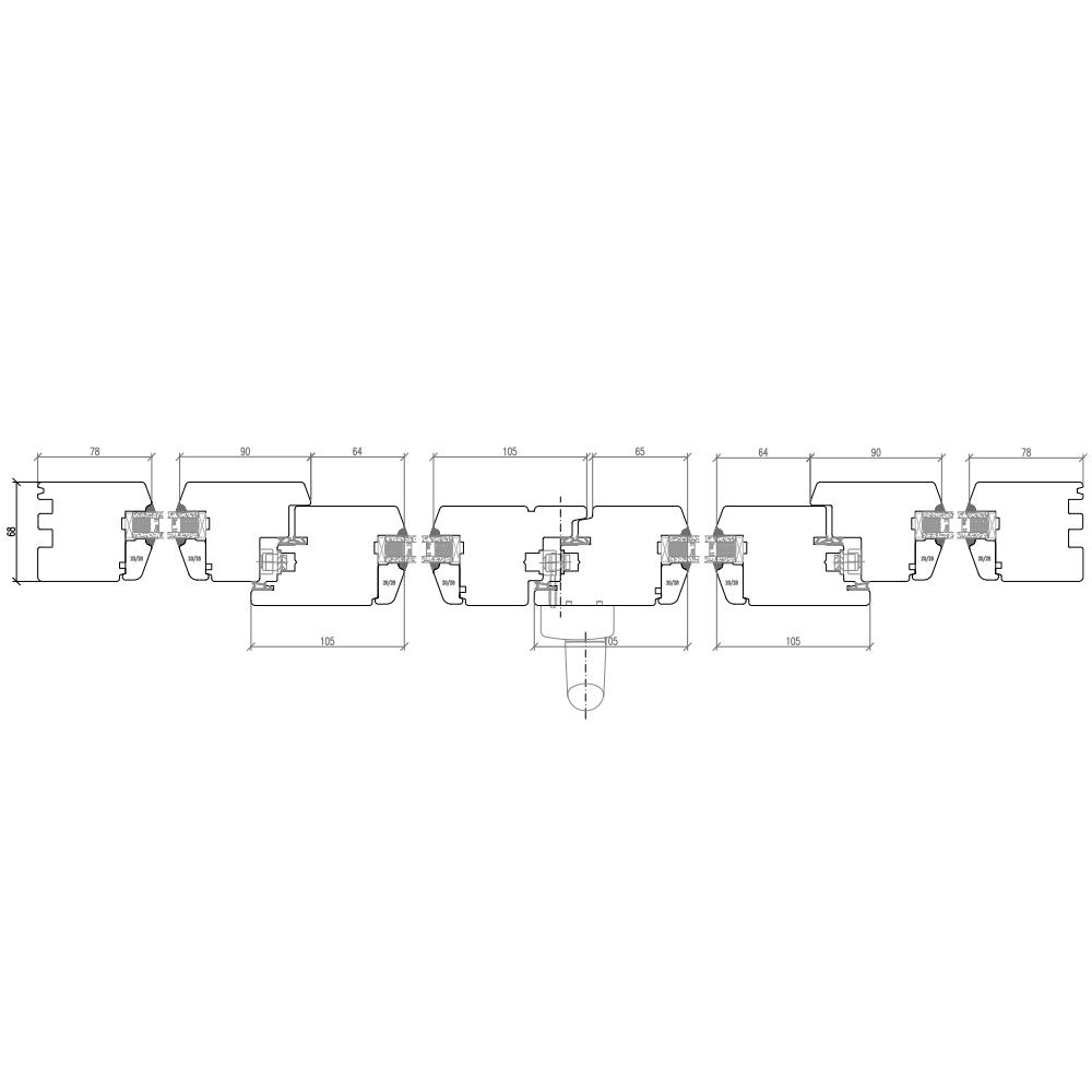 IV 68 Holz PSK Horizontalschnitt Schema C
