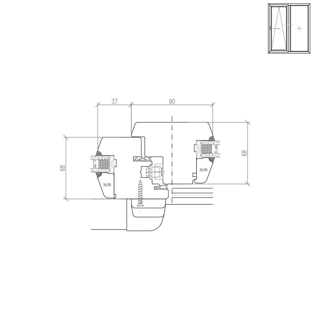 IV 68 Holz PSK Pfostendetail