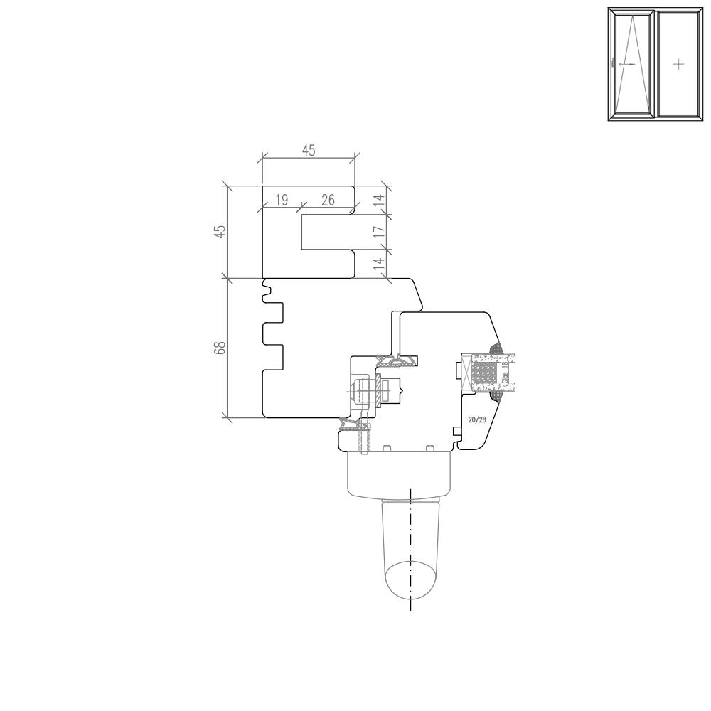 IV 68 Holz PSK Rollladenführungsschiene Neubau