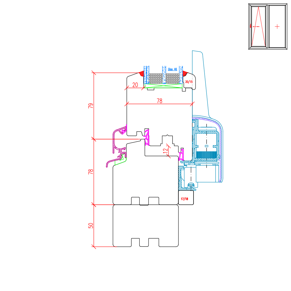 IV 78 Holz PSK Beispiel Rahmenverbreiterung