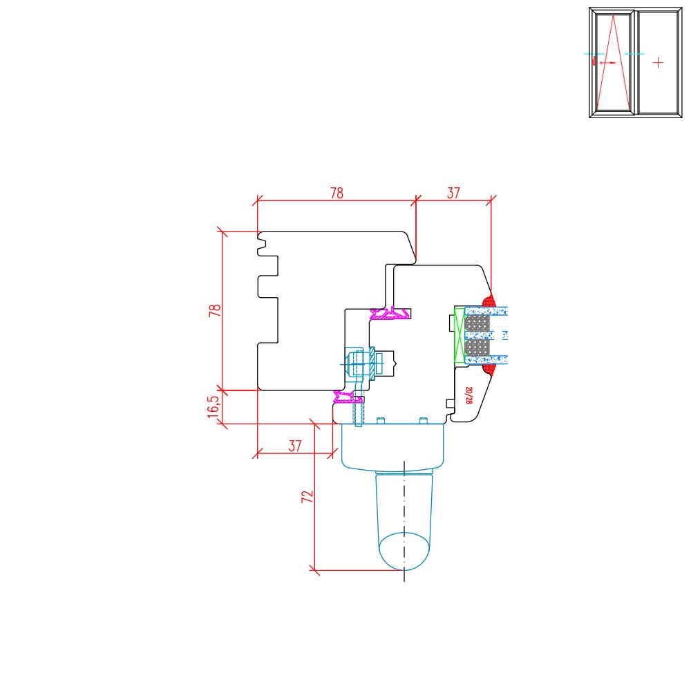 IV 78 Holz PSK Detail Griffseite