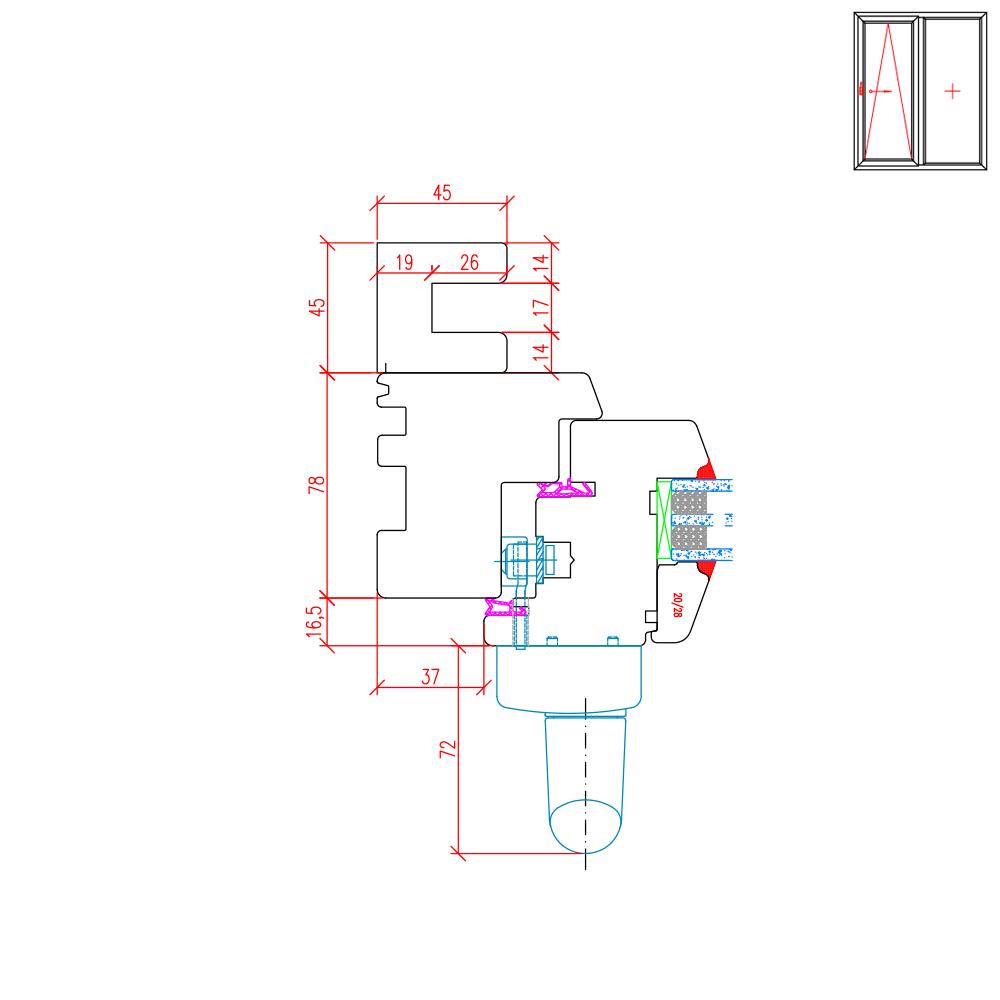 IV 78 Holz PSK Rollladenführungsschiene Neubau