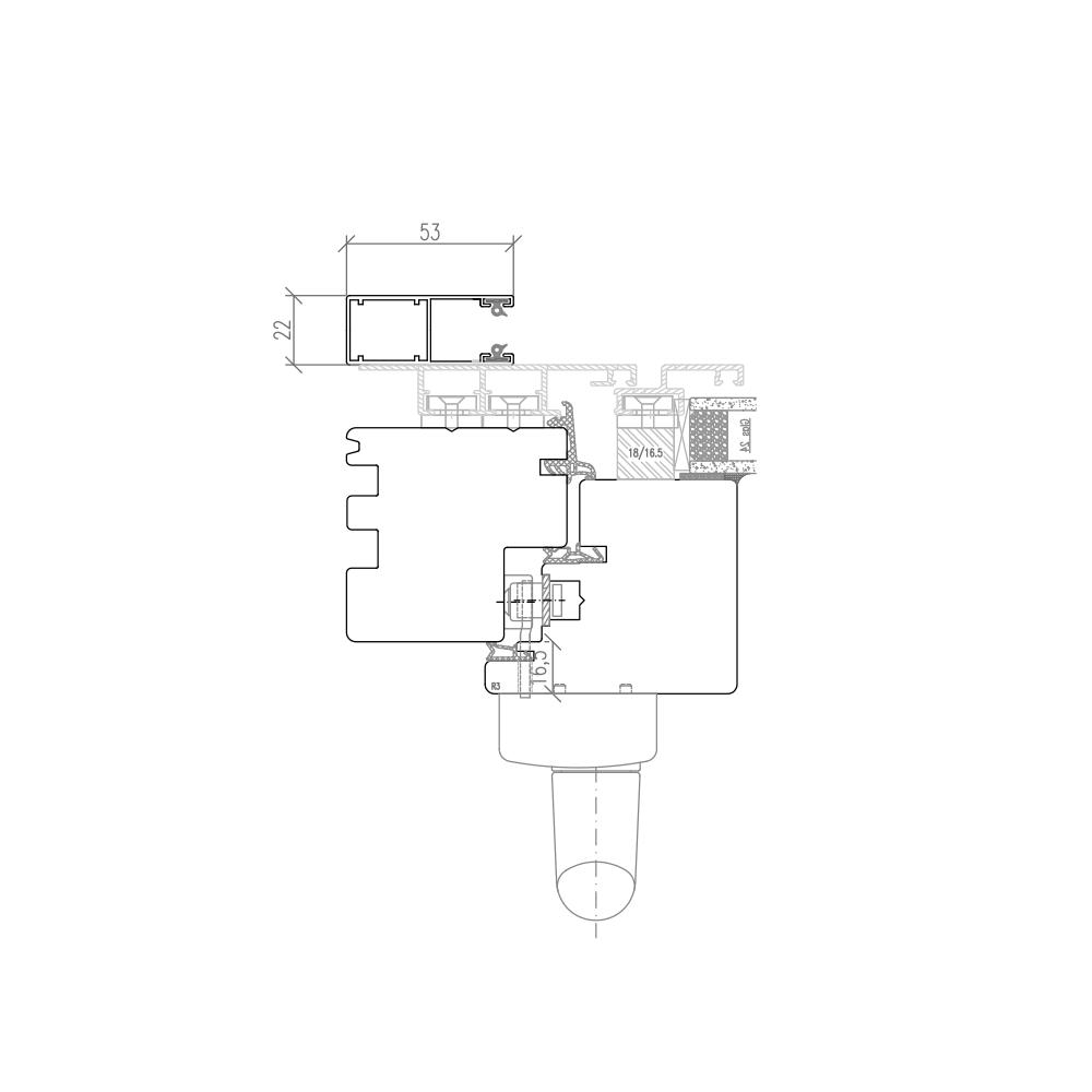 Plano PSK mit Vorbaurollladenschiene
