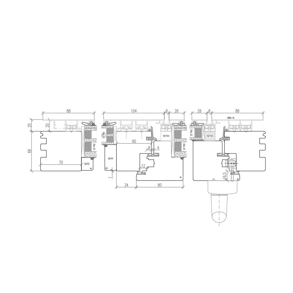 Plano - Detail Vertikalschnitt