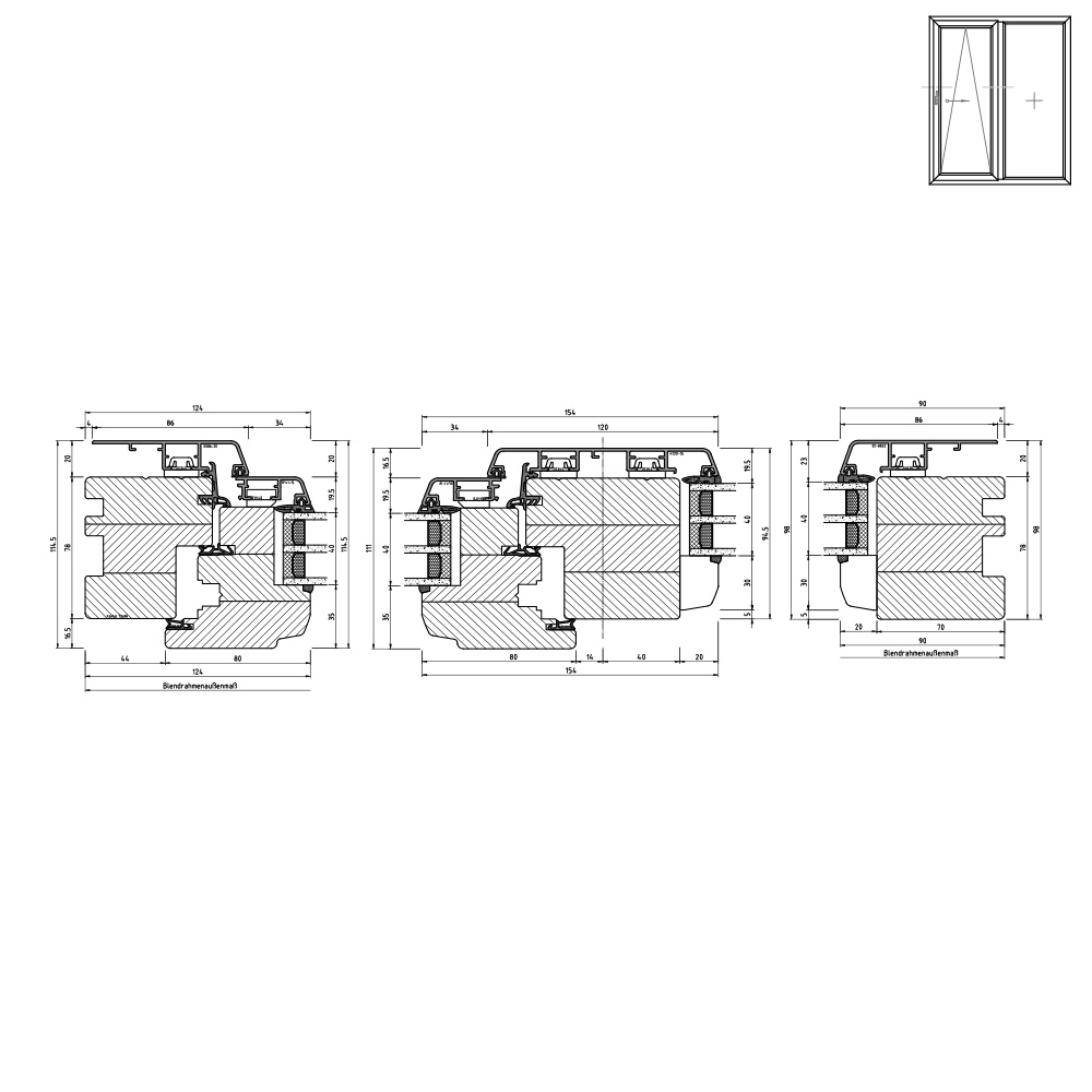 Idealu Classicline IV 78 Vertikalschnitt