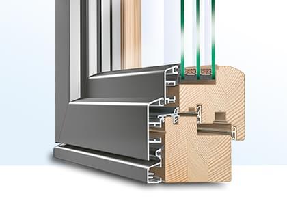 PSK-Tür Holz-Alu