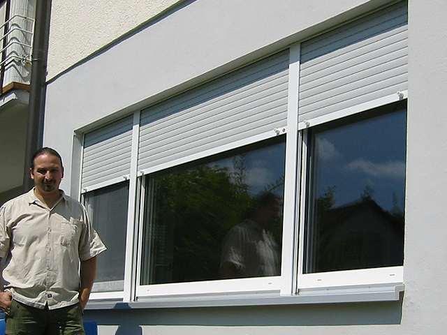 Fenster mit integriertem Rollladen in Ulm
