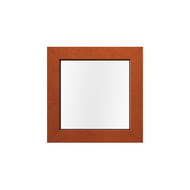 Kunststofffenster in Holzoptik Außenansicht Golden Oak