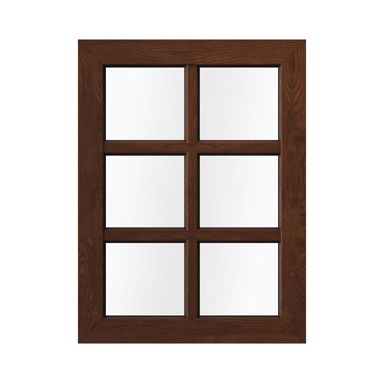 Kunststofffenster in Holzoptik Nussbaum Außenansicht