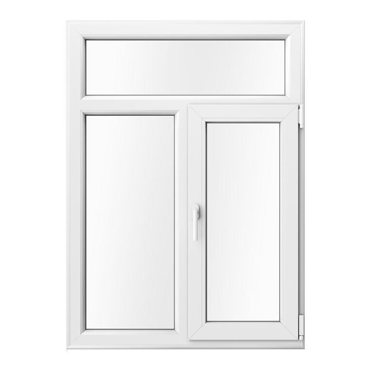 Kunststofffenster zweiflügelig in Holzoptik Weiß Innenanischt