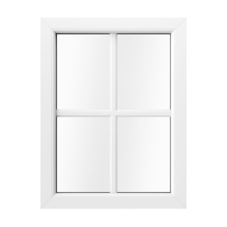 Sprossenfenster Innenansicht in Weiß