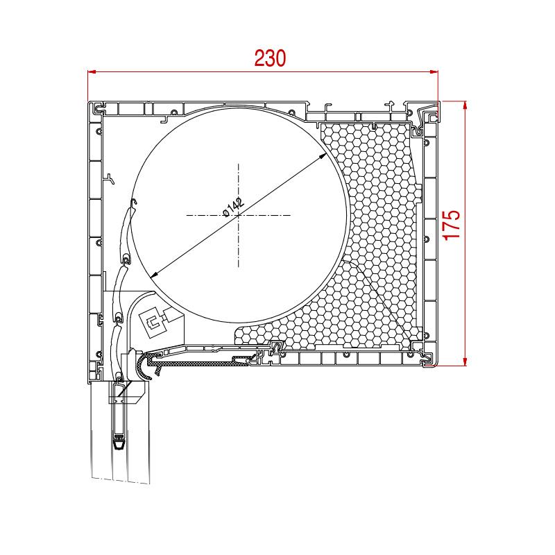 Aufsatzrolladen Basic Maße 175 x 230