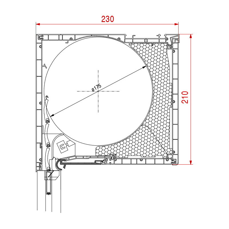 Aufsatzrolladen Basic Maße 210 x 230