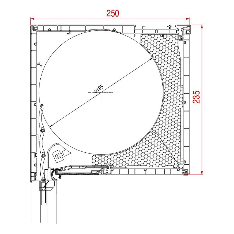 Aufsatzrolladen Basic Maße 235 x 250