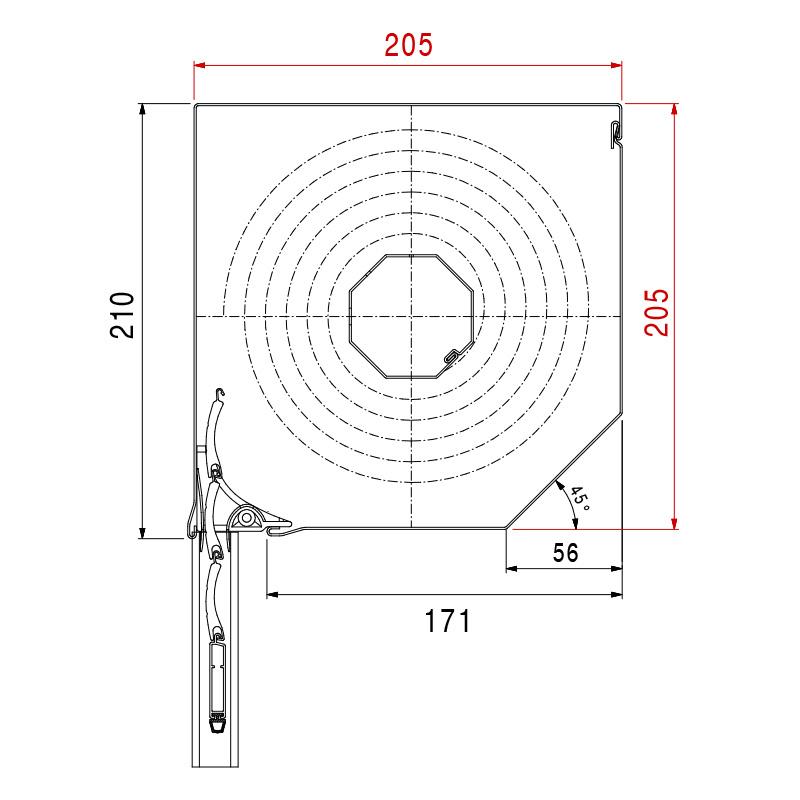 Vorbaurolladen Eckig Maße 205 x 205