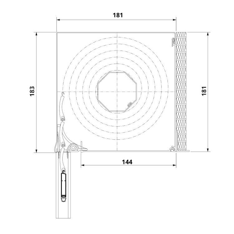 Vorbaurolladen Unterputz Maße 181 x 181