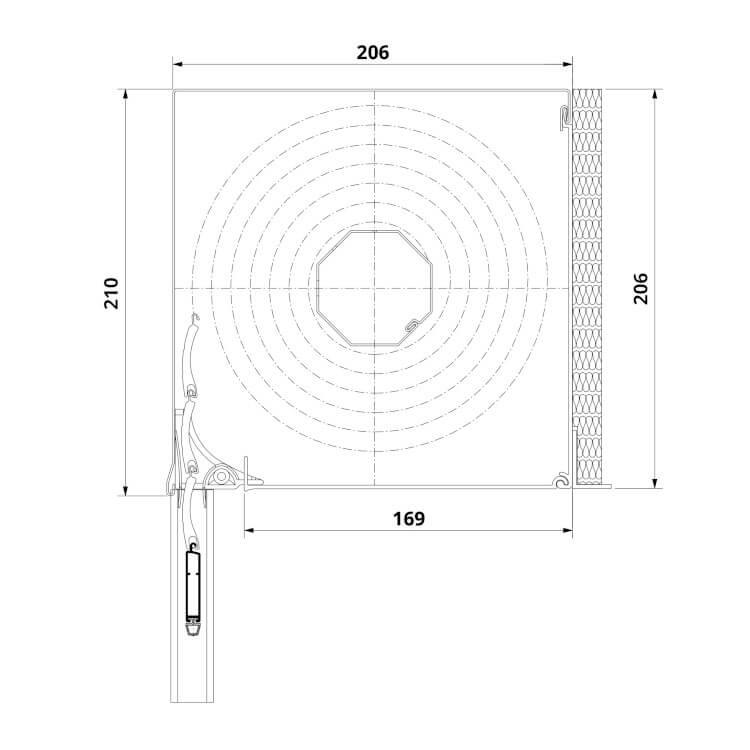 Vorbaurolladen Unterputz Maße 206 x 206