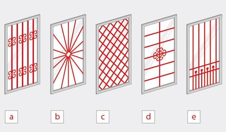 Fenstergitterarten