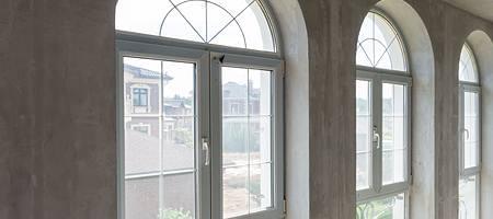 Materialien für Rundbogenfenster