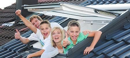 Individuelle Dachschrägenfenster