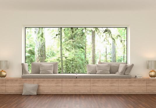 Panoramafenster Innenansicht