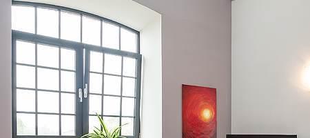Verglasung für Stichbogenfenster