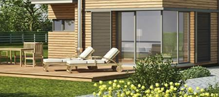 Terrassentüren Material Holz