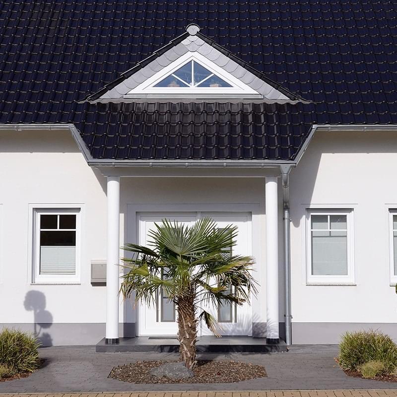 Eingangüberdachung modern