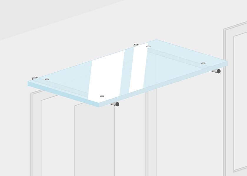Flachvordächer aus Glas