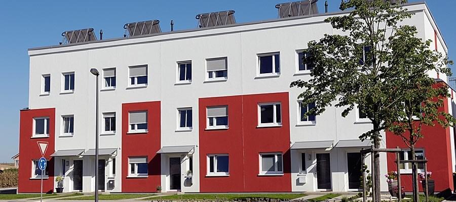 Haustürüberdachung aus Aluminium