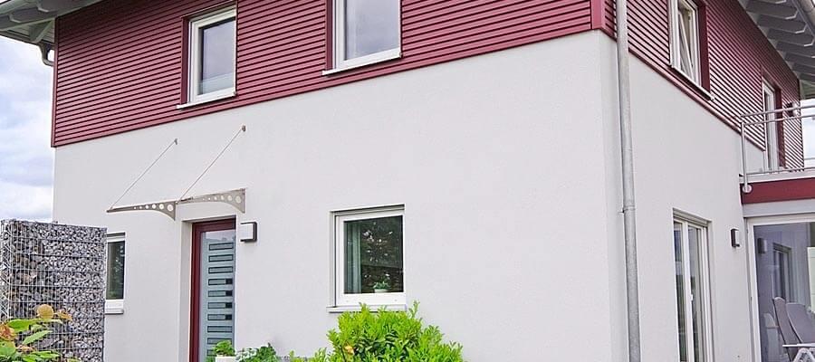 Haustürüberdachung aus Edelstahl