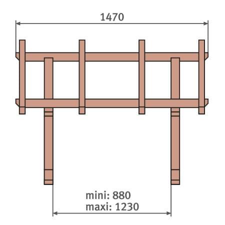Pultvordach Holz Konstruktion