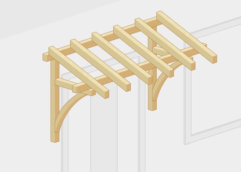 Pultvordach Konstruktion Holz