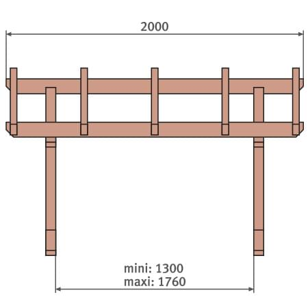 Vordach Holz Frontansicht