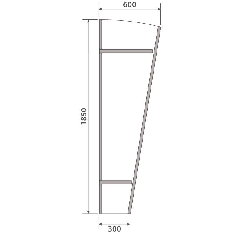 Vordach mit Seitenteil Maße