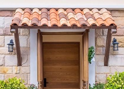 Vordächer mit Ziegel